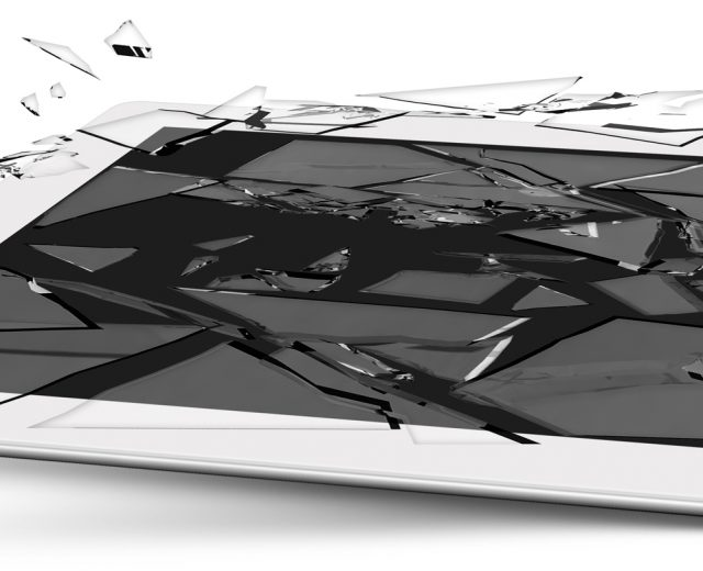Tela de iPad quebrada